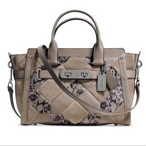 Coach SWAGGER 27 PATCHWORK EXOTIC EMBOSSED LEATHER